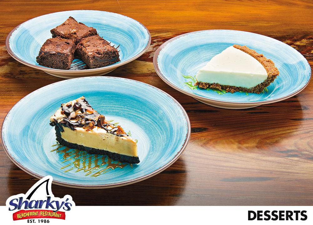 Key Lime Pie, Brownie Delight, Peanut Butter Pie