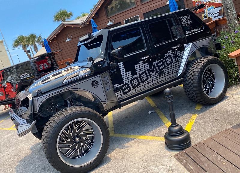 florida jeep jam - sharky's beachfront restaurant