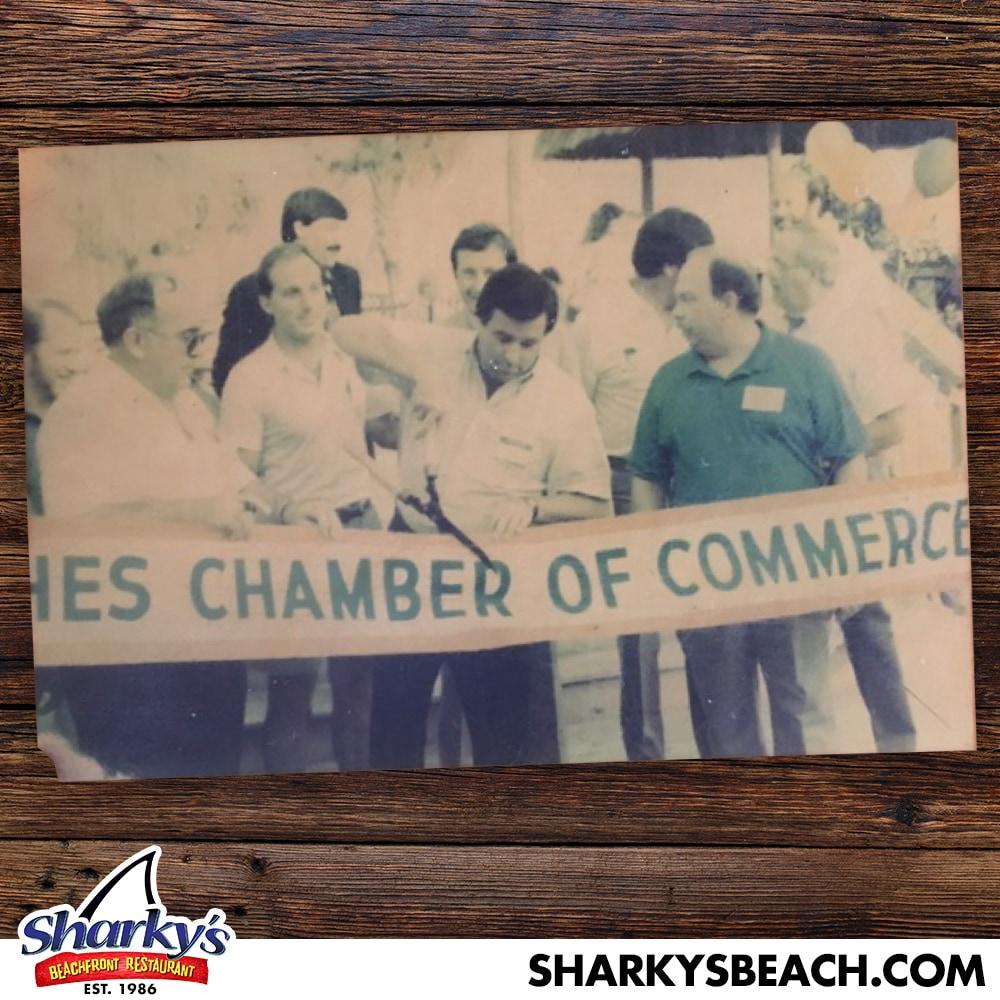 Beach Chamber of Commerce ribbon cutting